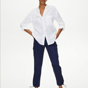 The Group by Babaton Collarless Utility Button-Up